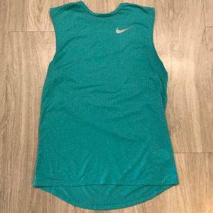 Men's Nike Dri-Fit teal blue tank top